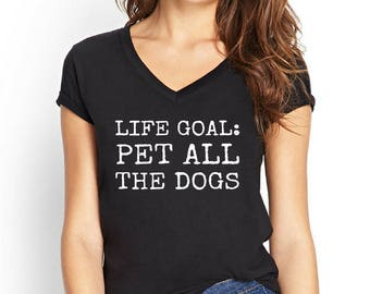 Life Goal Pet All The Dogs, Dog Lover Gift, Dog Mom, Dog Mom Shirt, Dog Mom Gift, Fur Mama, Fur Mama Shirt, Workout Shirt, Workout Top