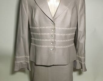 Vintage Escada Skirt Suit