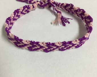 Neon Purple Heart Bracelet