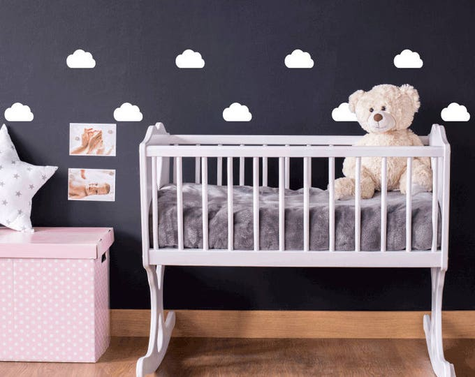 Featured listing image: 45 Mini White Clouds Nursery Wall Stickers