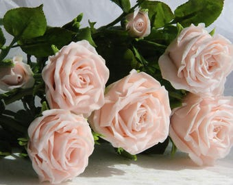 Home Décor,Handmade flowers,Floral Arrangement,Roses,Deco Clay,Wedding decoration,Gifts,Clay flowers,cold porcelain,clay roses,white roses