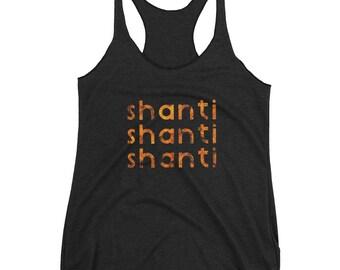 shanti yoga tank | peace tank | yoga shirt | sanskrit mantra | gift for yogi | Peace tank top | shanti top | mantra shirt | yogawear |shanti
