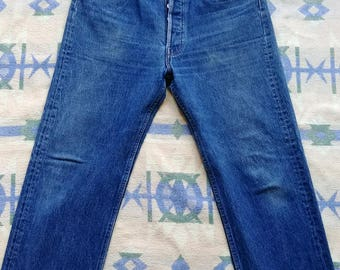 Levis 501 XX  Measured 31x30 - Made in USA - Vintage 501s - 100% Cotton