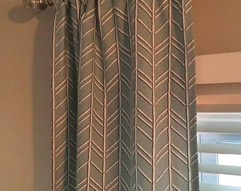 SALE! -  Bogatell Spa Blue Curtains - Designer Curtains  Panels - Blue Window Curtains - Window Curtain Panels - Window Treatments - Drapes