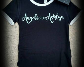 Angels For Ashlyn Ringer Tee