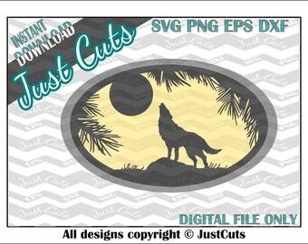 wolf svg, svg files, animal svg, wolf, frame svg, circle svg, wildlife svg, animals, nature, howling, dxf, eps, png, wolf file