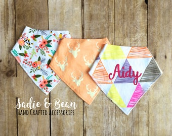 3 pack, Personalized Baby bib, monogrammed baby bib, bandana, girl Bandana Bib, girl bib, baby bib, Bib, Drool bib, personalized bandana