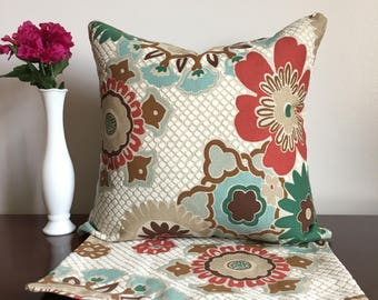 Pair of Floral Pillow Covers