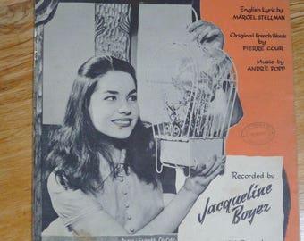 Eurovision Song Contest Winner 1960. Tom Pillibi Sheet Music