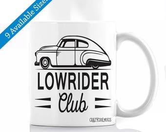 Lowrider Club Car Coffee Mug - Old Car, Muscle Car, low rider, lowrider, Car Lover, Horsepower, Mechanic