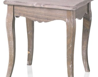 Stool wood 42X34X44 cm Provence