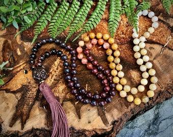 Ombre mala necklace / Bloodstone mala beads / Healing mala beads / Earthy mala necklace / 108 mala / 108 mala beads / mala beads 108 /