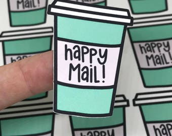 Fun Coffee Cup Stickers - Package Stickers - Shipping Stickers - Maker Stickers - Small Business Stickers - Maker Stickers