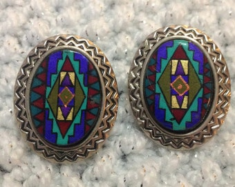 Vintage Southwest design earrings.