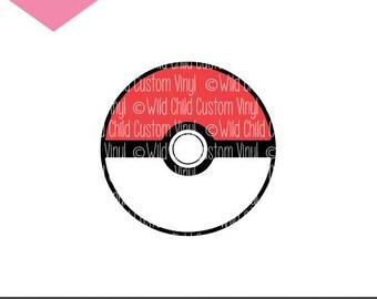 Pokeball, Poke Ball, Pokemon, Pokeball SVG, Pokeball Cut File, Pokeball Graphic, Pokeball PNG, Pokeball Cricut File, Pokeball Silhouette
