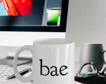 "Relationship Mug - Bae Gift ""Bae Mug"" Coffee Mug Gift Or Tea Mug For Your Girlfriend, Boyfriend, Wife, Husband Valentines Day"
