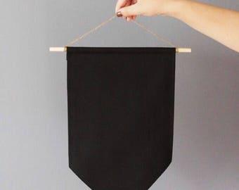 Disney Pin Display - Enamel Pin Trading Banner Flag in Black Canvas