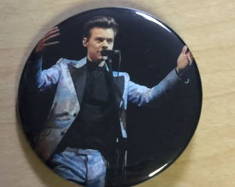 Harry Styles Pinback Button-New! 2.25 inch October 2017 Tour