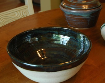 Ceramic Bowl // Ceramic Serving Bowl // Pottery Fruit Bowl // Unique Ceramic Bowl