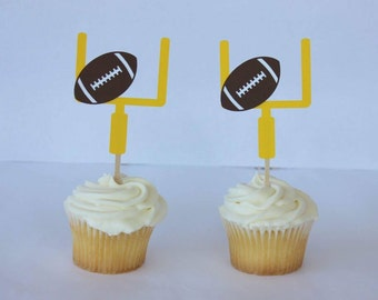 Sports Birthday - Football Baby Shower - Sport Cupcake Topper - Football Cupcake Topper - Football Party Decor - Sport Theme Party
