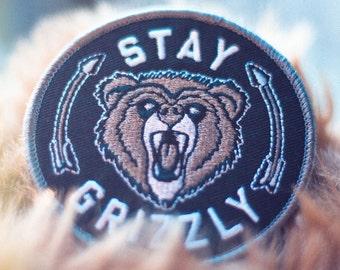 Bear Patch - Bear Iron On - Bear Iron On Patch - Adventure Patch - Adventure Iron On Patch - Embroidered Adventure Patch - Adventure Swag -