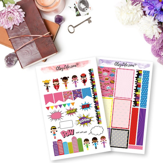 Girl power planner stickers the happy planner printable for Happy planner accessories