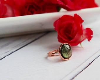 Rose Gold Ring - Galaxy Jewellery - Galaxy Ring - Rose Gold Jewellery - Handmade Ring - Statement Ring - Sparkly Ring
