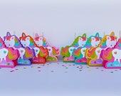 Party Favors, Unicorn Party Favors, Lollipop Party Favors, Set of Eight Party Favors, Lollipop Holders.