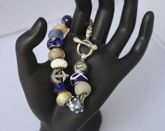 Pandora Style Nautical Charm Bracelet