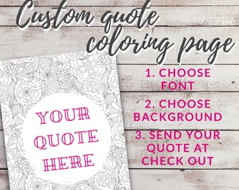 Custom text here, Coloring quote, Self care printable, Date night ideas, Art activity for kids, Good vibes only, Mental health