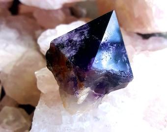 Single Amethyst Crystal, Deep Purple, Amethyst Point, Natural