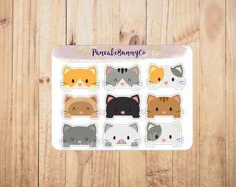 Peeping/Peeking cat stickers