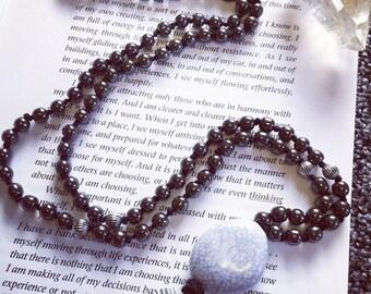 108 Bead Hematite, Mala Necklace, Buddhist Jewellery, Meditation Jewellery, Mala Jewellery, Healing Mala, Yoga Jewellery, Prayer Beads.