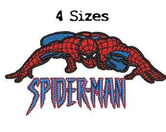 Spiderman 4Sizes Digitized filled Machine Embroidery Design Digital Download