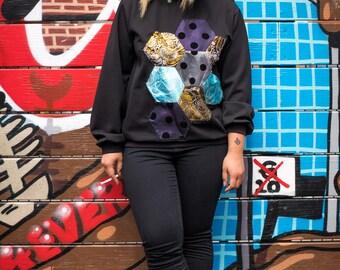 Oversized Jersey sweater black