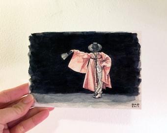 Traditional Korean Scholar Dance Print