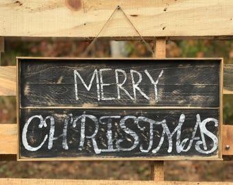 Merry Christmas Sign // Hanging Christmas Sign //