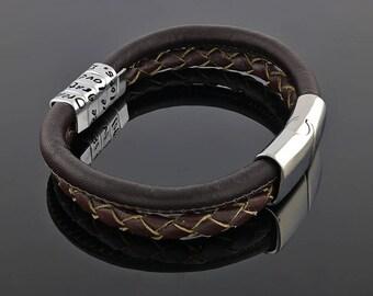 Men braided bracelet - Men leather bracelet - Braided leather bracelet - Men Valentine gift - Braided bracelet - Braided bracelet men