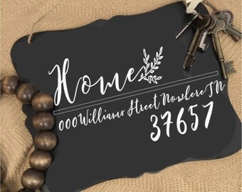 Door hanger with address | door hanger| Personalized Decor | realtor gifts for home buyers | home address | personalized Welcome Sign | Home