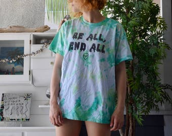 Alien Logo // Be All, End All // TIE DYE -green