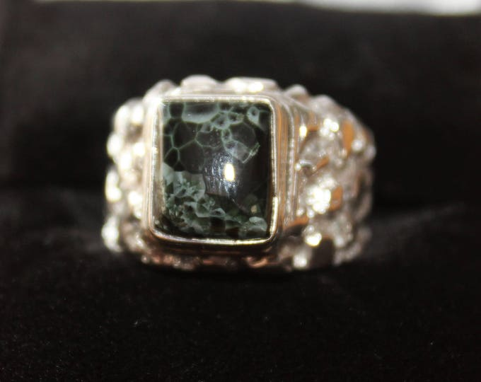 Chlorastrolite (Greenstone) Ring: GR-66 Size 8