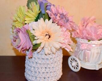 Home Decor Basket, Handmade basket for flowers