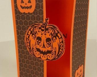 Halloween Card - Pumpkin Halloween Card - Gate Fold Halloween Card