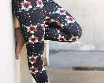Women's Bottoms, Women's Leggings, Womens Yoga Pants, Tiger Snowflake Print