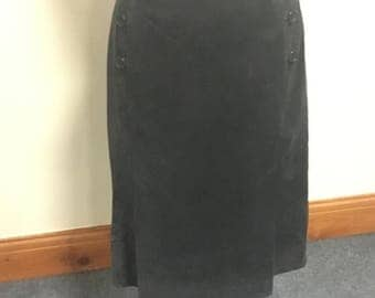 Blue suede skirt size 12