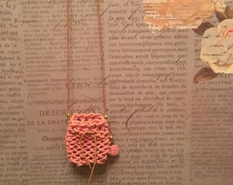Amulet Pouch necklace  HAND-SEWN