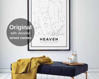 City map poster  Etsy