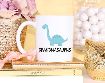 Grandmasaurus , Dinosaur, Personalized, Coffee Mug, Mom, T Rex, Personalized Dino, Triceratops, Custom, Christmas Gift, Gift From Grandson