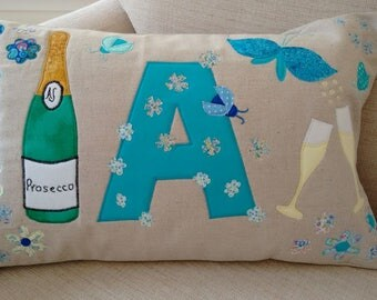 Personalised Initial Cushion, Custom Letter Cushion