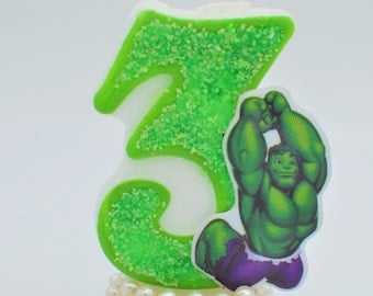 Hulk birthday candle / birthday candle hulk / hulk birthday theme / hulk theme / hulk birthday decorations / hulk party theme / party candle
